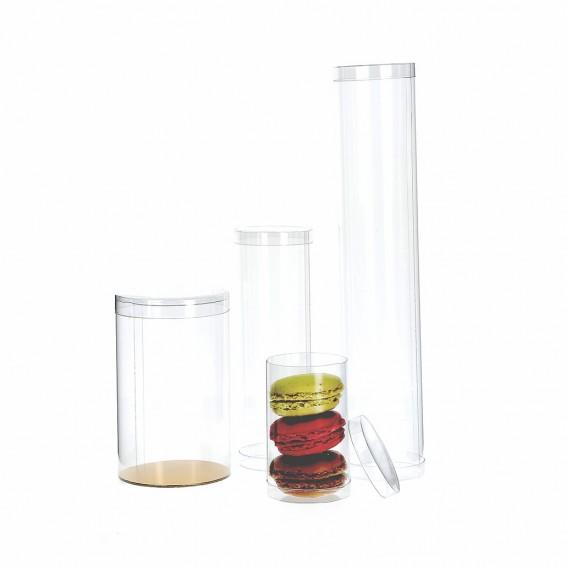 Tube transparent pour chocolats et dragées