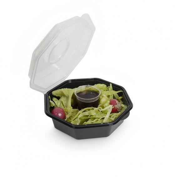 Barquette Salade avec Pot a Sauce