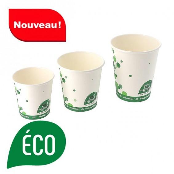 Gobelet biodegradable blanc