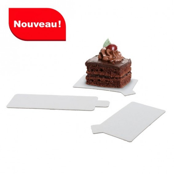 Support rectangulaire a languette en carton