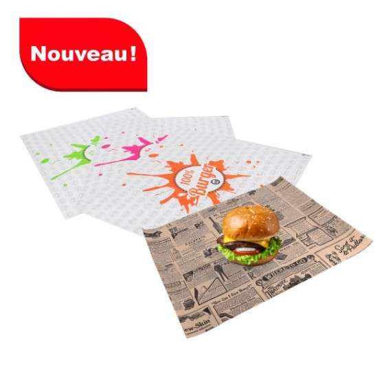 Emballage burger en format