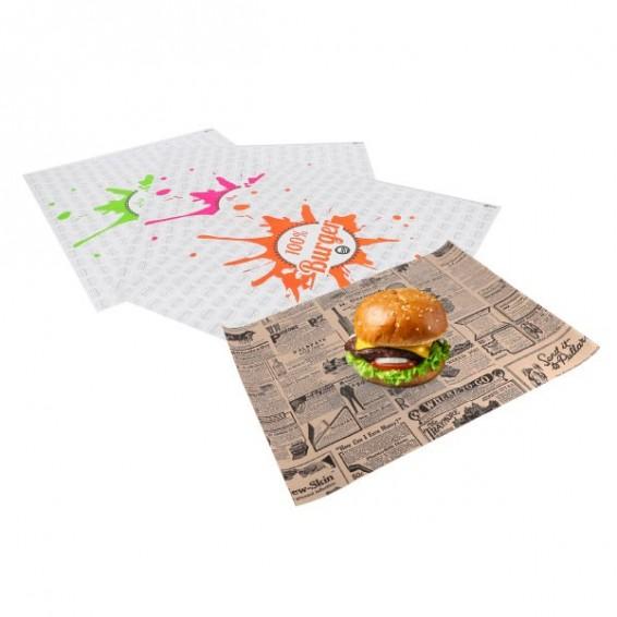 Emballage burger en format