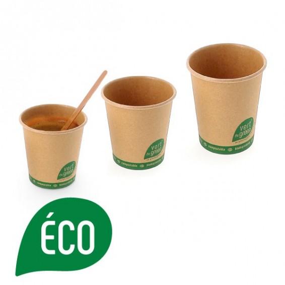 Gobelet biodegradable en kraft brun