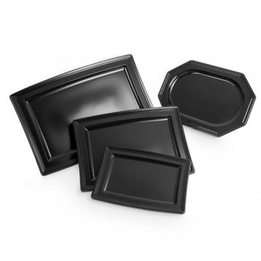 Plat en plastique noir