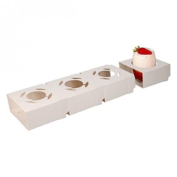 Calage carton pour verrine et mignardise