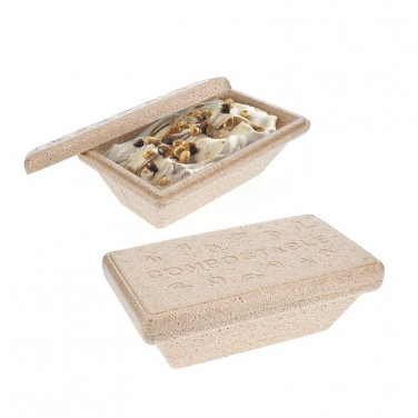 Boite isotherme pour glace (compostable)
