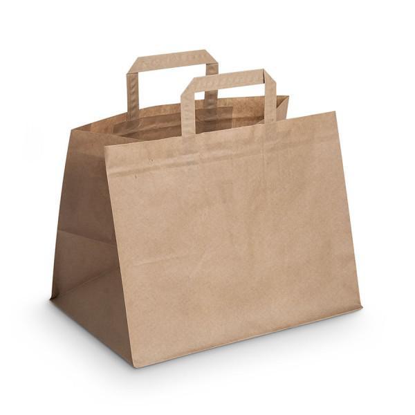 sac kraft pas cher avec poign es plates emballage. Black Bedroom Furniture Sets. Home Design Ideas