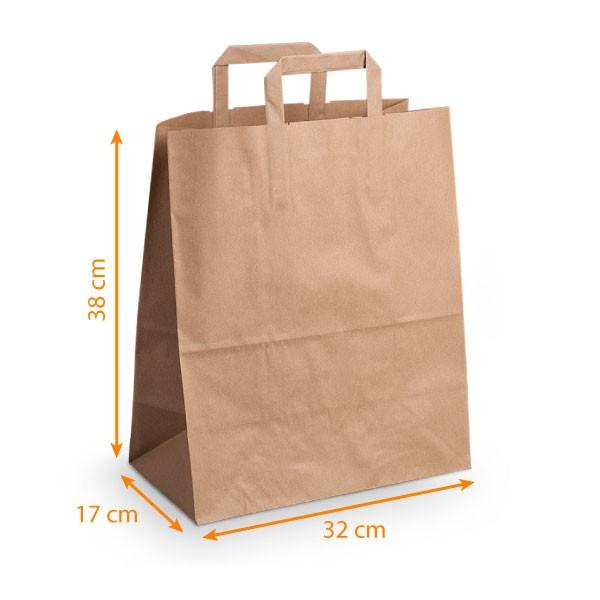 SPTwj 24X Sac Kraft Sacs en Papier avec Poign/ées Recyclable /Épaissir 130gsm Sac Cadeau Nourriture Sacs en Papier Marron Brun pour Anniversaire Mariage f/ête danniversaire 15 8 27cm 21cm//21 11