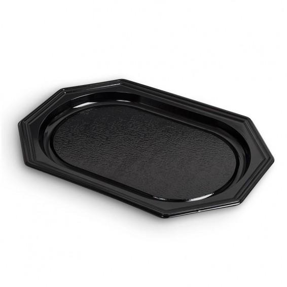 Plats octogonaux noir